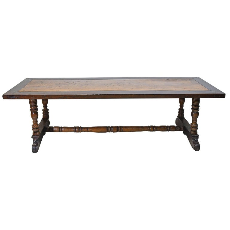 Long Dining Tables For Sale: 18th Century Long Spanish-Colonial Dining Or Kitchen Table