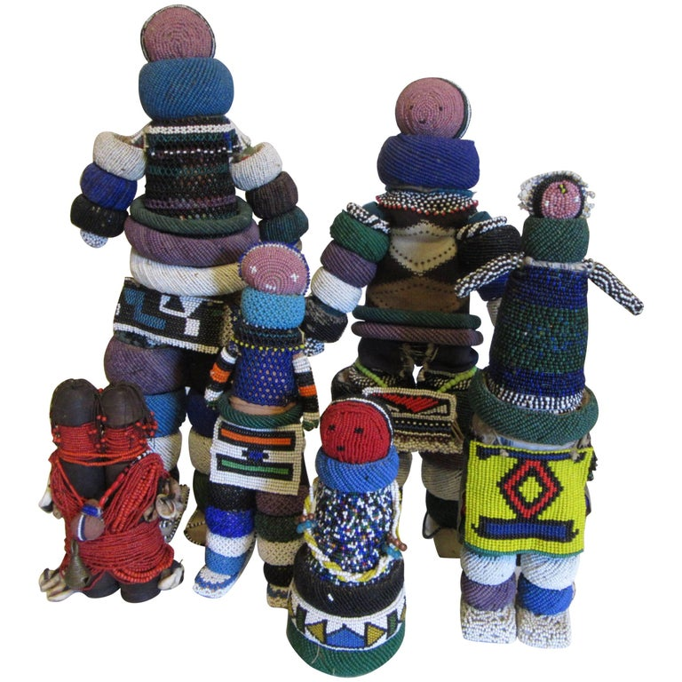 Collection of Ndebele Fertility Dolls For Sale
