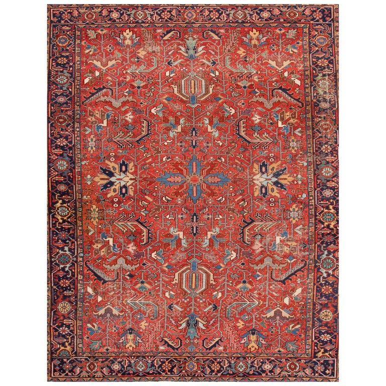 1920s Red and Rust Persian Heriz Carpet