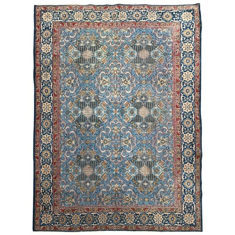Antique Persian Ghom Rug For