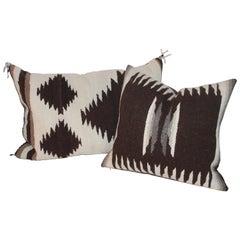 Two Navajo Indian Weaving Pillows