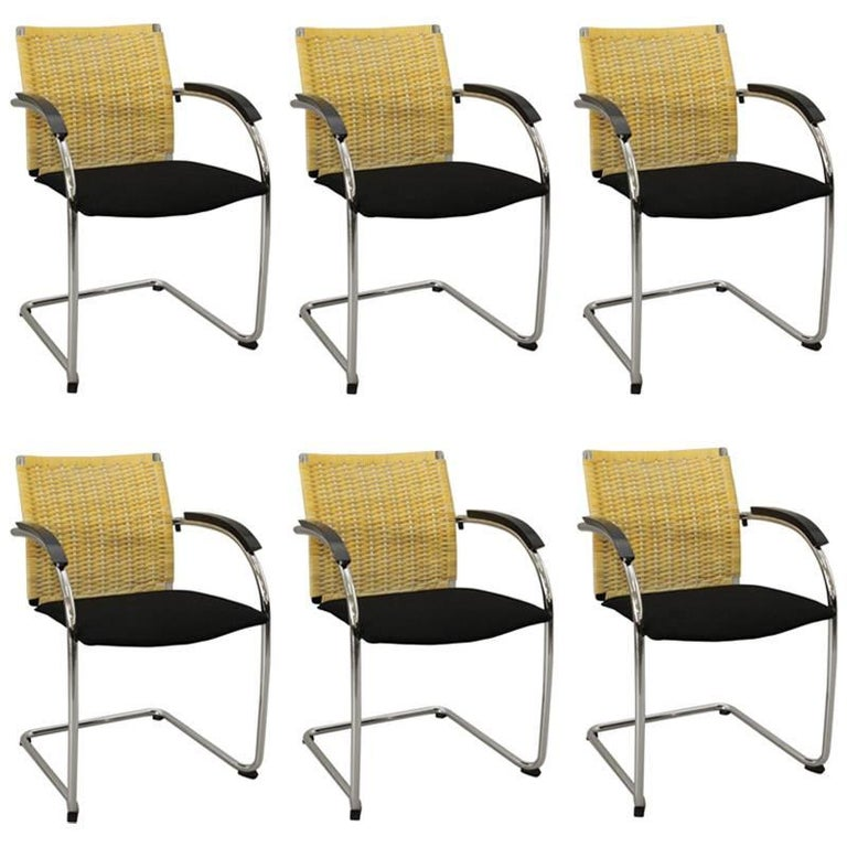 Set of Six Dining Chairs by Jozef Gorcia & Andreas Krob for Thonet Model S78