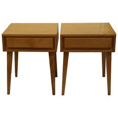 Pair of Russel Wright for Conant Ball Nightstands, circa 1950s