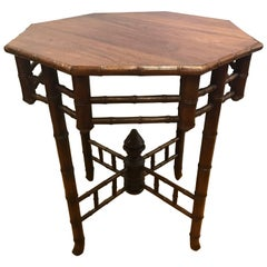Faux Bamboo Hexagonal Occasional Table