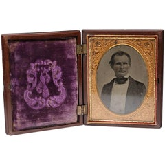 Large Daguerreotype in Embossed Case, circa 1880s