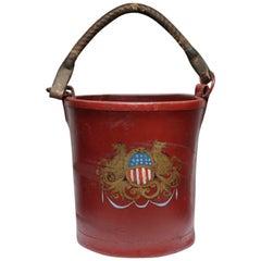 19th Century Leather English Fire Bucket, circa 1800s