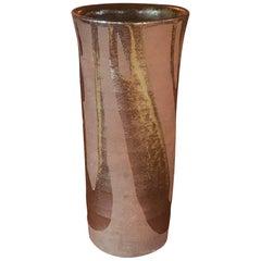 Tall Vintage Ceramic Midcentury Abstract Glazed Vase Pot Pottery Art