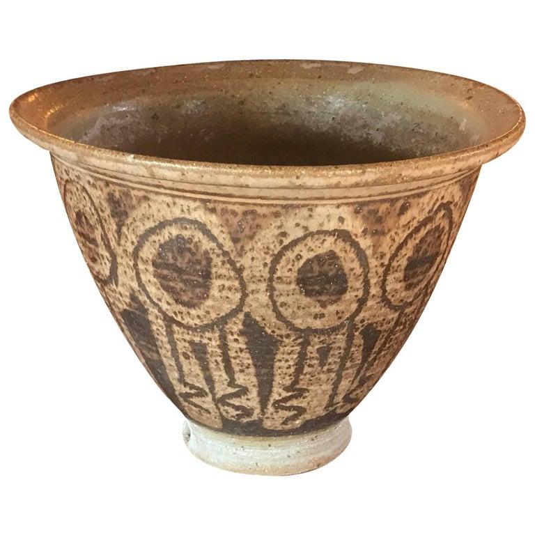 Vintage California Art Ceramic Planter Pot Pottery Mid-Century Modern For Sale