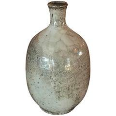 Small Studio Crackle Glazed Ceramic Weed Pot Pottery Vintage Midcentury Vase