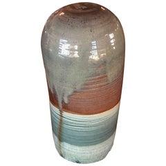 Tall Vintage Studio Midcentury Ceramic Weed Pot Pottery Vase