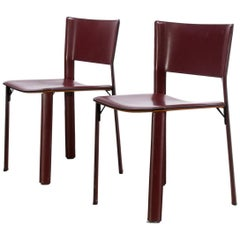 Giancarlo Vegni 'S91' Chair for Fasem Italy Set of Two