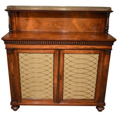 Fine Regency Rosewood and Brass Chiffonier