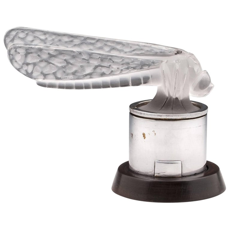 Rene Lalique Petite Libellule Small Dragonfly Car Mascot For Sale