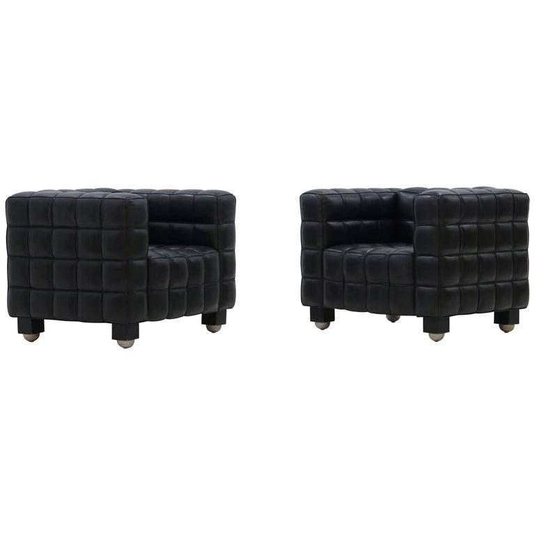 Kubus Armchair Lounge Chair by Josef Hoffmann Wittmann
