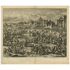 Antique Bible Print Third Plague of Egypt by J. Luyken, 1743