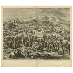 Antique Bible Print Fifth Plague of Egypt by J. Luyken, 1743