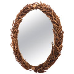 Spectacular Antler Oval Mirror