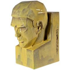 Art Deco Sculpture 'Thinking' 'Het Denken', Willem Coenraad Brouwer, circa 1930