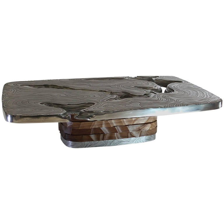 """Hypsometrique"" Aluminum Coffee Table by Armand Jonckers"