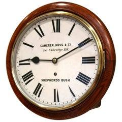 Solid Oak Dial Clock