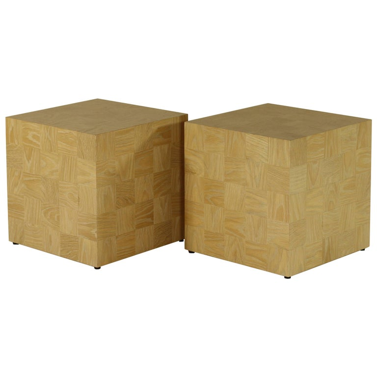 Q15 Side Table Or Stool In Plain Sawn White Oak For Sale