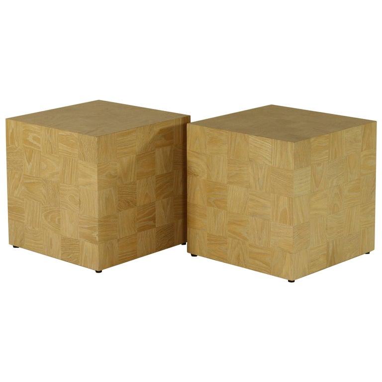 Q15 Side Table or Stool in Plain Sawn White Oak