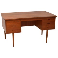 1960s Danish Vintage Teak Desk