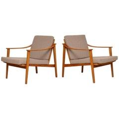 1950s Pair of Danish Vintage Armchairs