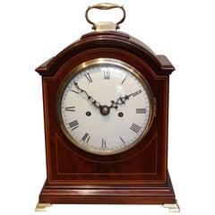 English Mahogany Bracket Clock