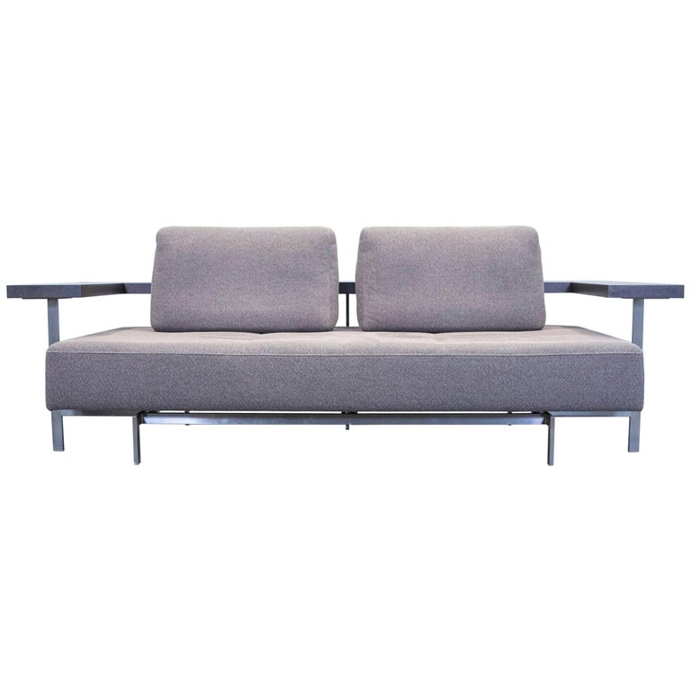 rolf benz dono 6100 designer sofa grey fabric two seat. Black Bedroom Furniture Sets. Home Design Ideas