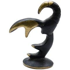 Walter Bosse Scorpio Zodiac Sign Brass Figurine, 1950s
