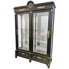 Large Antique French Empire Vitrine or Display Cabinet, circa 1890