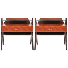 1945-1950 Pair of Side Tables Attributed to Vittorio Dassi