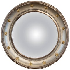 Vintage Hollywood Regency Style Convex Mirror