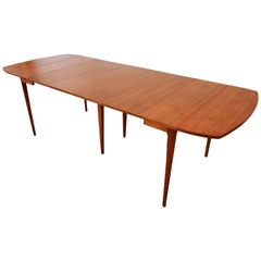 "Kipp Stewart for Drexel ""Declaration"" Walnut Dining Table"