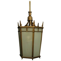 Art Deco Seven-Light Curtis Lighting Inc Antique Hall Lantern
