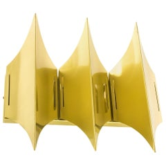 Sculptural Brass Wall Lamp Gothic III by Lyfa, 1960s