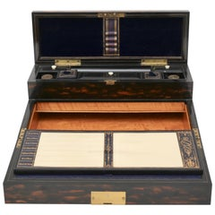 Traveling Lap Top Desk by W. H. Tooke, England, 1860s