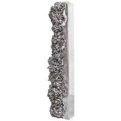 Aluminum Synthesis Monolith Sculpture Mirror