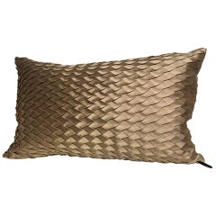 Silk Cushion Pleated Small Opal Pattern Embossed Colour Platinum