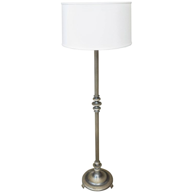 1920s french silvered floor lamp for sale at 1stdibs for 1920 floor lamp