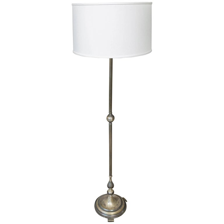 1920s french silver floor lamp for sale at 1stdibs for 1920 floor lamp
