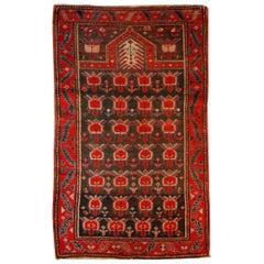 Handmade Antique Caucasian Karabagh Rug, 1890s