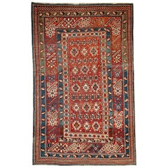 Handmade Antique Caucasian Chichi Rug, 1880s