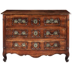Fine Louis XV Provincial Three-Drawer Commode