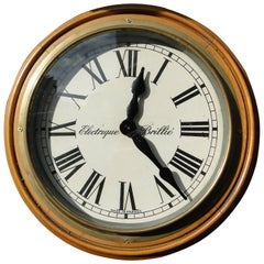 Vintage Brillie Wall Clock, France, 1930