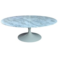 Early Eero Saarinen for Knoll Marble Tulip Coffee Table