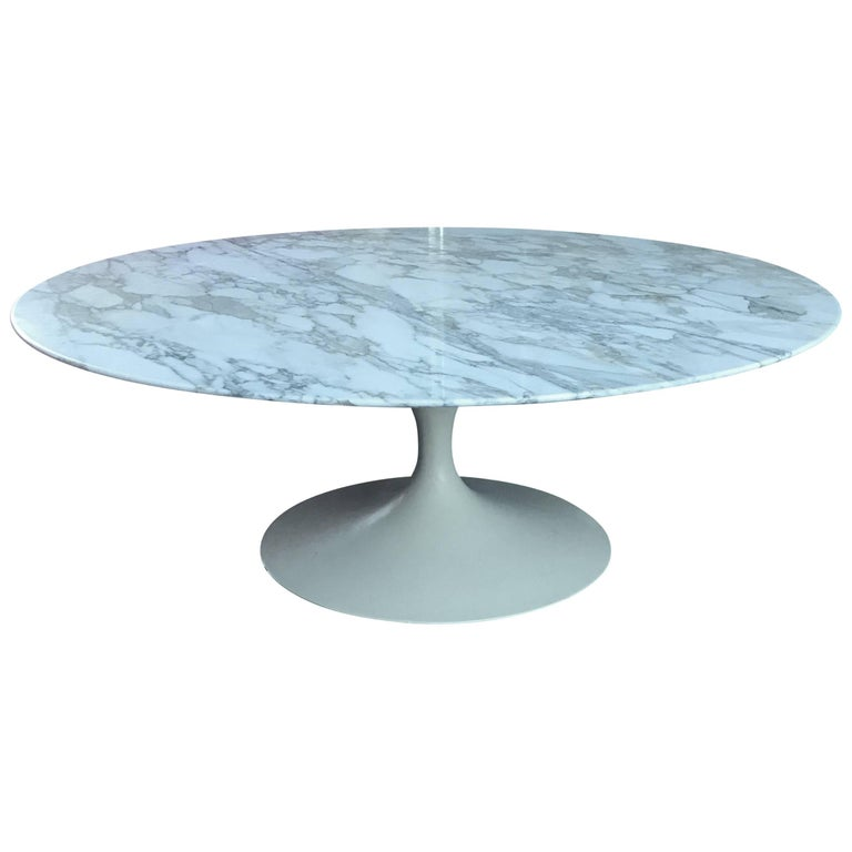 Early Eero Saarinen For Knoll Marble Tulip Coffee Table For Sale At 1stdibs