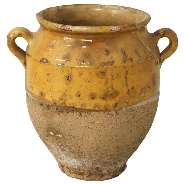 antique french confit pot for sale at 1stdibs. Black Bedroom Furniture Sets. Home Design Ideas