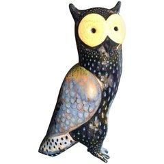 "Big Bold ""Spotted Owl"" Handmade Hand Glazed, Master Artisan Eva FritzLindner"